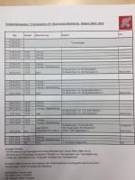 Vorbereitungsplan Sommer 2016